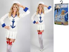 Ladies Sailor Uniform fancy dress up Costume Hat & Dress reduced to clear