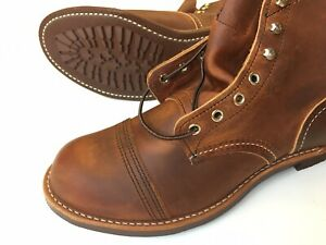 RED WING Iron Ranger Heritage 8085 Men's Copper Rough Tough Sz 10.5 D, NIB