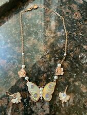 Betsy Johnson Butterfly Necklace and Earring Set