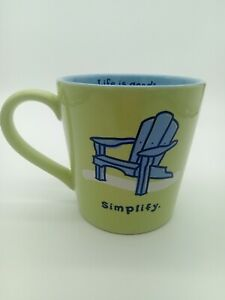 "Life Is Good Home Mug ""Simplify"" Blue Chair 16oz"