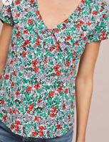 NWT ($78) Anthropologie Austen Collared Blouse by Maeve Women's Size 6