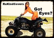 "Yamaha Raptor 660 NEW REAPER Eyes HeadLight Covers RUKINDCOVERS"" All years"