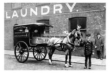 pt0990 - Royal Laundry Delivery Cart , Denton , Lancashire - photo 6x4