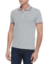 Classic grey Moncler short sleeve polo shirt size M IT 48
