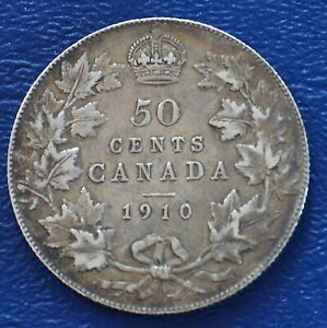 1910 Canada 50 cents -- XF details -- lightly cleaned