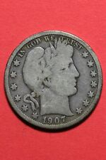 1907 D Barber Liberty Half Dollar Exact Coin Pictured Flat Rate Shipping OCE 481