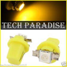 2x Ampoule B8.5D BX8.5D BAX10D ( T5 sur culot ) LED SMD Jaune Yellow Neo Wedge
