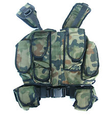 TACTICAL ASSAULT COMBAT VEST POLISH ARMY WOODLAND - POUCH FOR MAGAZINES AK47 AK