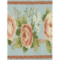 Pink Roses & White Flowers Wallpaper Border Norwall AB78280