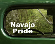 2 NAVAJO PRIDE STICKERs Native American Decal for Car Truck Laptop Window Bumper