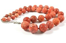 Original Natural Sponge Red Coral Sea Necklace