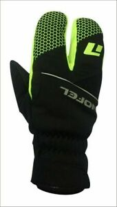 Winter Cycling  Gloves Premium Quality Windproof Gel Padding Yellow/Black
