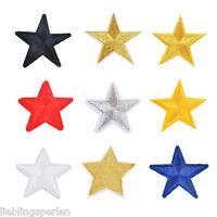 10 Sterne Form Aufnäher Aufbügler Applikation Patchwork Bügelbilder G/S