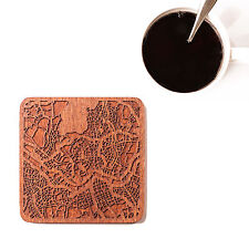 Seoul map coaster One piece  wooden coaster Multiple city IDEAL GIFTS