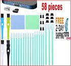 58Pcs Metal Anti Dust Plugs Phone Port Cleaning Brush Kit for iPhone New