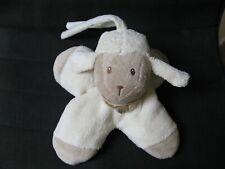 peluche doudou musical mouton blanc marron nattou