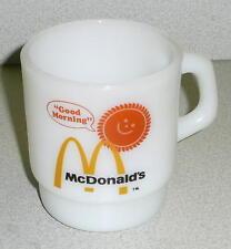 Vintage McDonalds FIRE KING COFFEE MUG Milk Glass Nice Condition