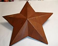 "PRIMITIVE STYLE COUNTRY RUSTY TIN  BARN STAR 14 1/2"" HOME DECOR"