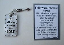 x Not all who wander are lost FOLLOW YOUR ARROW Pocket Charm token Ganz wanderer