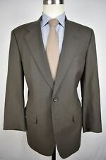 Unbranded Brownish Gray Worsted Wool Two Button Two Piece Lounge Suit Size: 41R