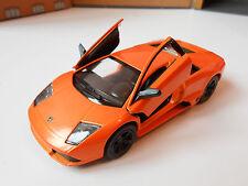 LAMBORGHINI MURCIELAGO DIE CAST Toy Car MODEL boy dad birthday ORANGE NEW!!!!!!!