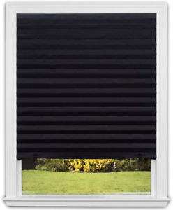 Pleated Window Blinds Blackout Paper Shade Black UV Protection 48 x 72 In 6 Pack