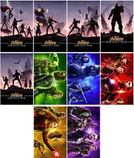 10 Avengers:Infinity War Movie 2018 Mirror Surface Promo Card Sticker Poster Aer