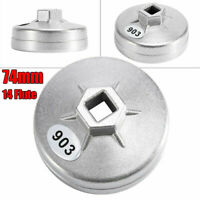 Oil Grid Filter Housing Tool Remover Cap Wrench 14-Flutes 74mm Kit For BMW Chery