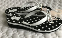 Women's Sandals patent leather Kate Spade MANDY NEW YORK  size 8M Whit/Black