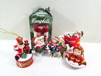 Campbell Kids Holiday Christmas Ornaments St. Bernard Soup Can Mug Mixed Lot