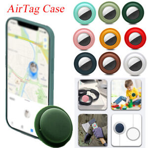 UK For Apple AirTag Self-adhesive Loop Holder Keyring Carry Case Air Tag Tracker