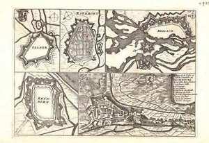 Antique map, Plan de la Ville et de la Citadelle de Limbourg