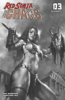 RED SONJA AGE OF CHAOS #3 DYNAMITE 1:40 PARRILLO B&W VARIANT