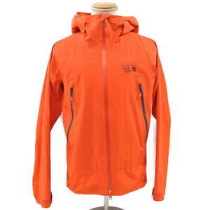 $240 Mountain Hardwear Quasar Lite Dry.Q Elite Waterproof Jacket Men's L Orange