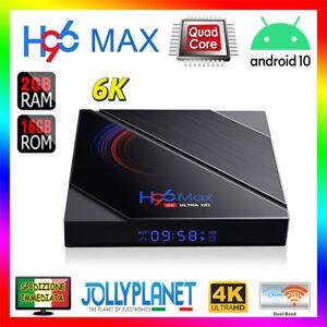 H96 MAX 6K Smart TV Box 2GB 16GB ANDROID 10.0 ALLWINNER H616 4K WiFi Quad-Core