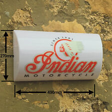 Indian Motorcycle Classic Scout Garage Light Box   LED Display Games Room Sign