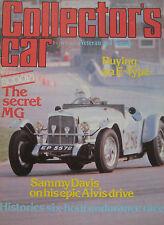 Collector's Car magazine 12/1979 featuring Jaguar E-type, Riley, Alvis