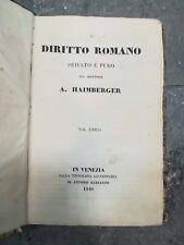 IL DIRITTO ROMANO PRIVATO E PURO HALMBERGER 1840