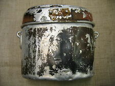 WWII German Battle Damaged Aluminium Mess-tin. Relic.