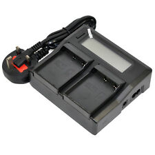 Fast/Dual LCD Battery Charger for Olympus BLH1 BLH-1 BCH1 OMD EM1 E-M1 Mark 2 II