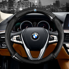 "15"" Car Steering Wheel Cover Genuine Leather For BMW Good"