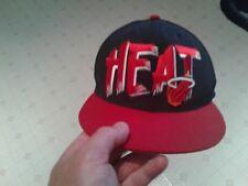 NBA MIAMI HEAT BLACK RED CAP HAT SNAPBACK HEAT