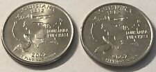 2002 P and D 2 Coin Louisiana Washington Statehood Quarter Set