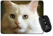 Gorgeous White Cat Computer Mouse Mat Christmas Gift Idea, AC-79M
