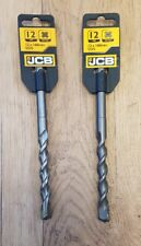 2 x 12 mm SDS Plus Masonry drill 160 mm piece by JCB DIY Pair of Bundle