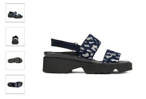 Thierry Rabotin Barton Navy w/Spots Comfort Sandal Women's Sizes 36-42/6-12/NEW!