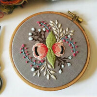 Hand Cross Stitch Needlework Kits with Embroidery Hoop 20cm for Beginners