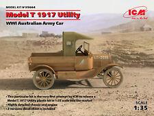 ICM 1/35 Modèle T 1917 Utilitaire 1ÈRE GM Australien Armée Voiture # 35664