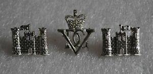 BRITISH CAVALRY 5th INNISKILLING DRAGOON GUARDS VDG OFFICER CAP & COLLAR BADGES