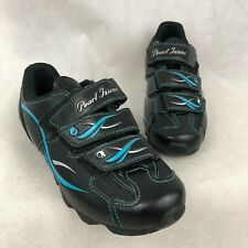Pearl Izumi All Road Cycling Shoes Womens 6.5 / 37 Black Turquoise Blue 15213001
